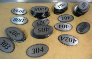 Laser Engraved Door Numbers