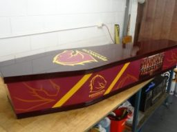Broncos Coffin Wrap