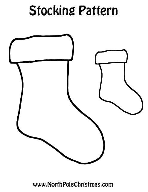 Christmas Stocking Template Cut Out Template