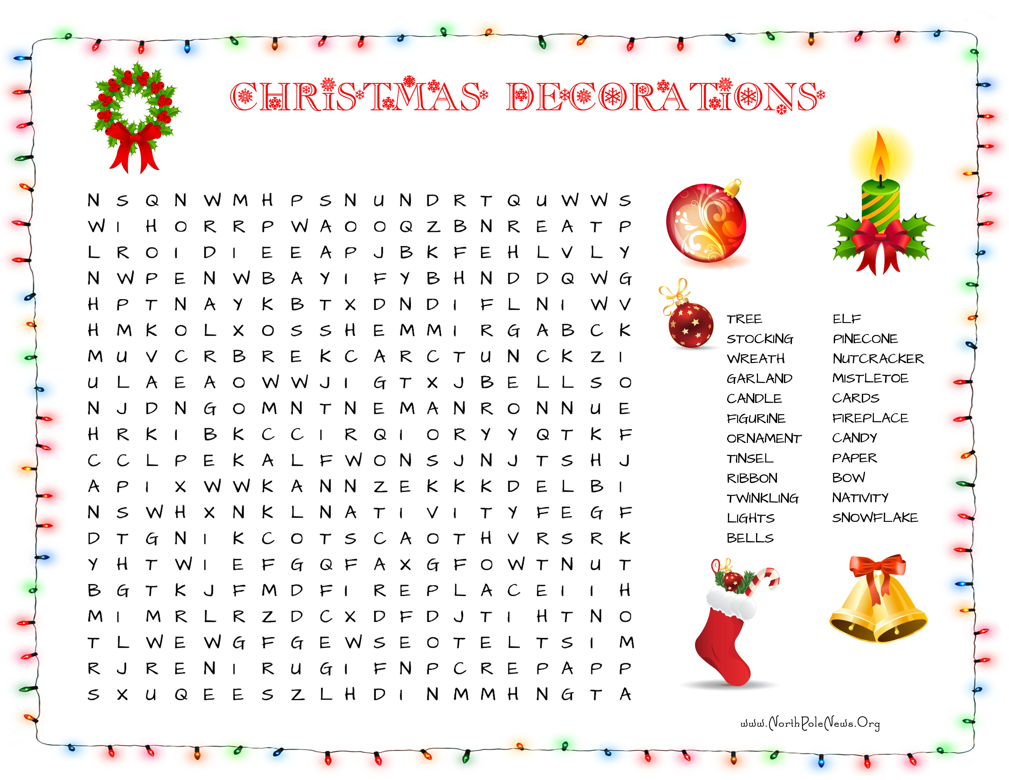 More Printable Christmas Word Searches