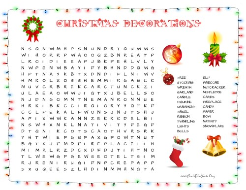 small resolution of 37 Free Christmas Word Search Puzzles for Kids
