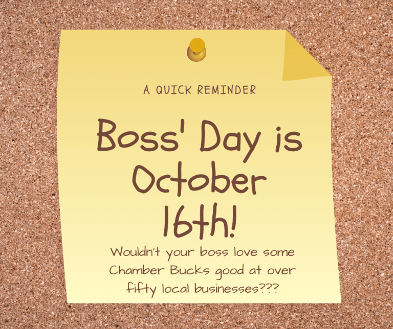 Boss' Day is October 16th!