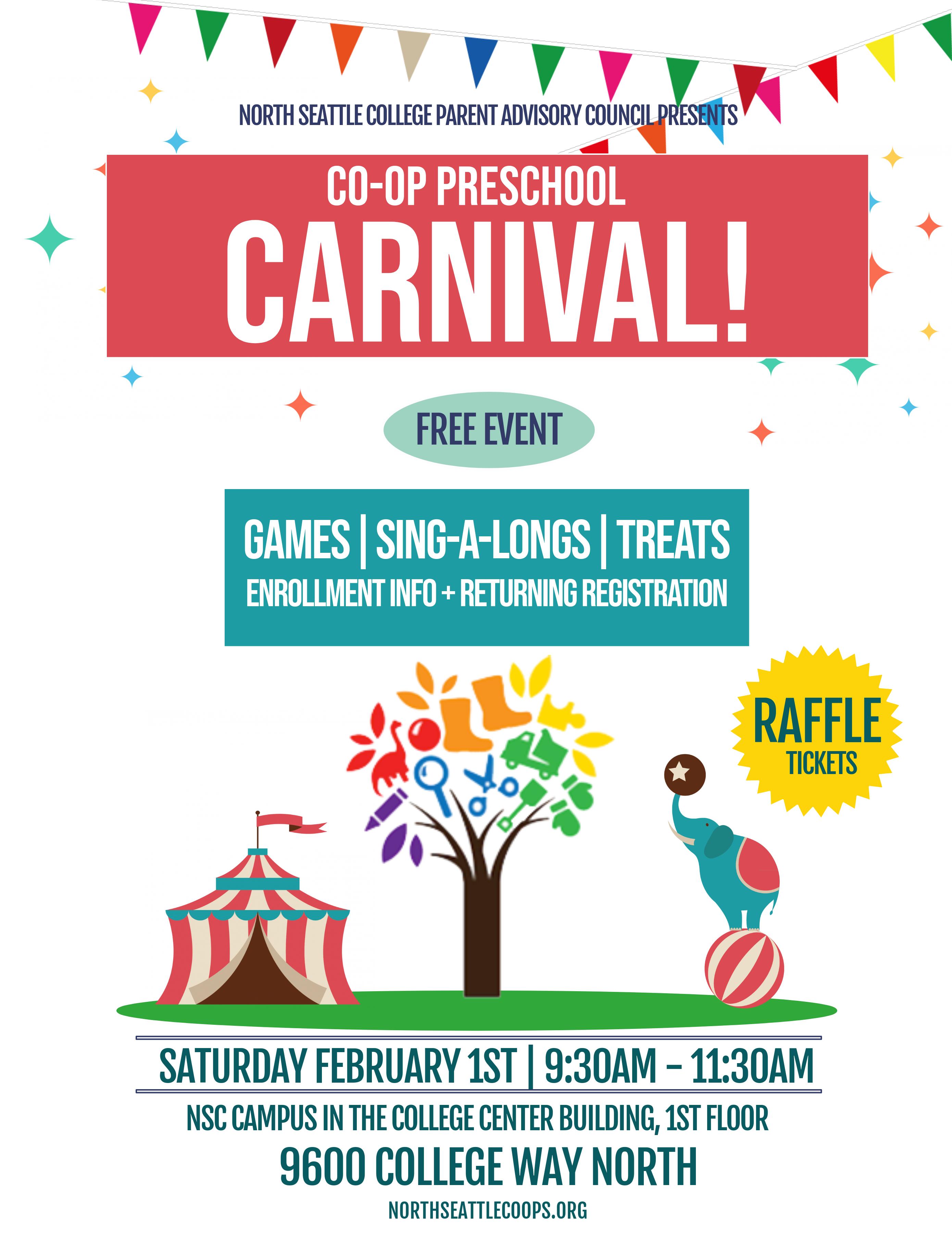 Preschool Registration Carnival | Feb. 1, 2020