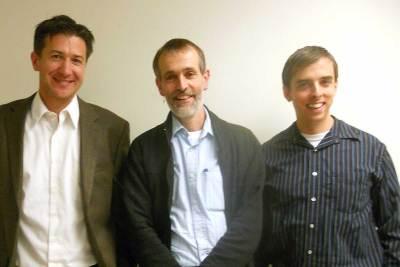 3-Ph.D.s - Tim Burdick Ph.D. and Jon Kershner Ph.D. with visiting Ph.D. Advisor Ben Pink Dandelion Ph.D.