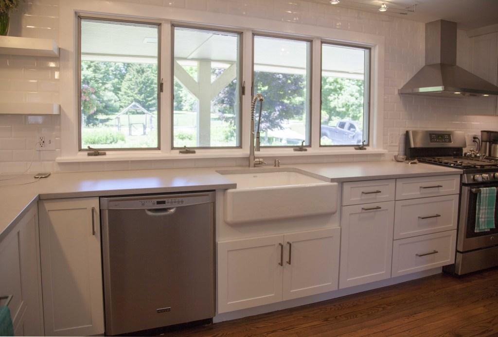 White Shaker Kitchen Home Remodel