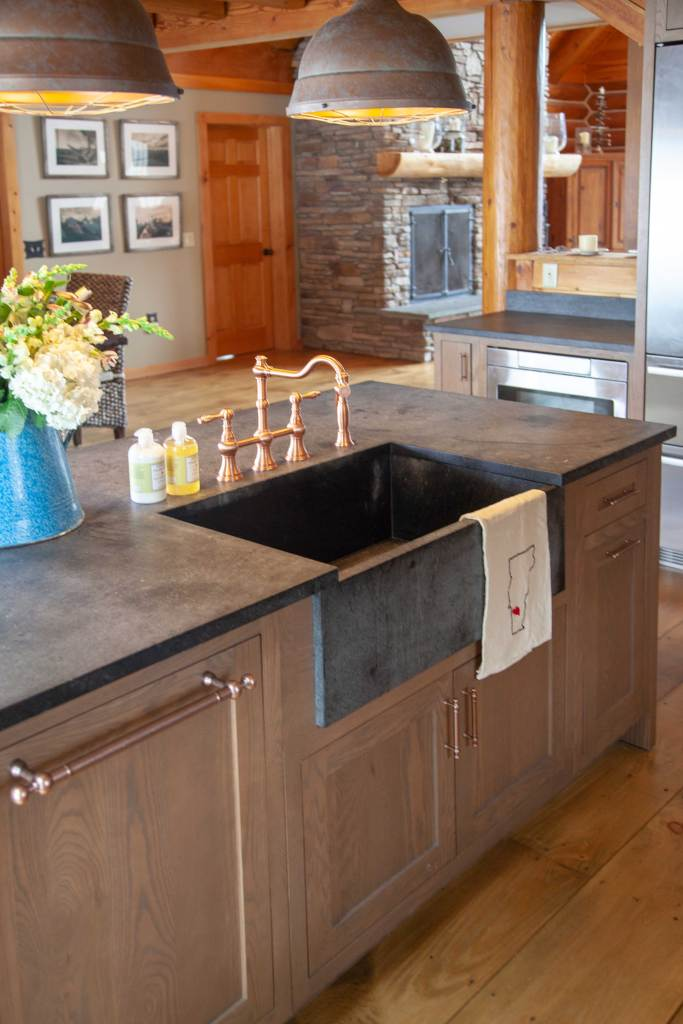 Vermont kitchen with soapstone sink