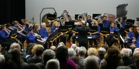 National D Grade Champions Kumeu Brass were guest band at today's concert.