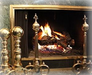 Brass Iron and Antique Andirons  Decorative Grates  Northshore Fireplace