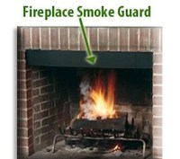 Fireplace Adjustable Smoke Guard - Northshore Fireplace
