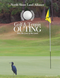 North Shore Land Alliance 2020 Golf and Tennis Outing Digital Journal