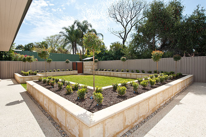Limestone Retaining Walls Perth