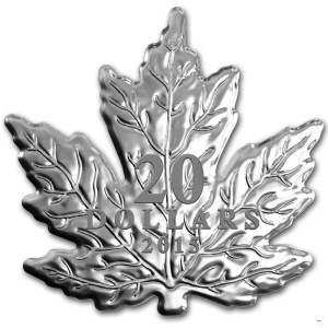 2015 Maple Leaf-shaped $20 coin