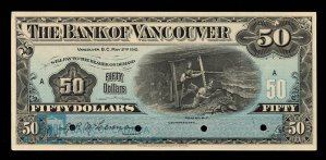 The Bank of Vancouver 50 Dollar note