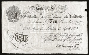 Operation Bernhard Bank of England 10 Pounds