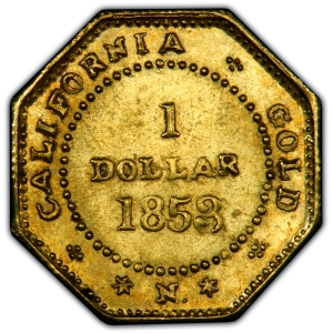 1853 California Gold Dollar