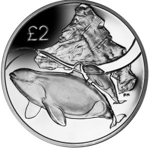 BRITISH ANTARCTIC TERRITORY 2 POUNDS 2014 ORCA BU