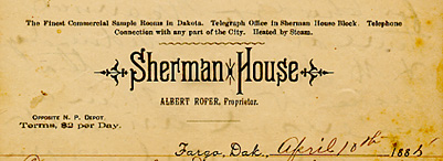 Sherman House letterhead