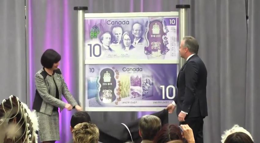Bank of Canada unveils new $10 n