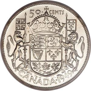 Canada 50 Cents 1949