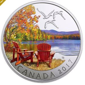 1/2 oz. Pure Silver Coloured Coin - Iconic Canada: Autumn's Palette (2017)