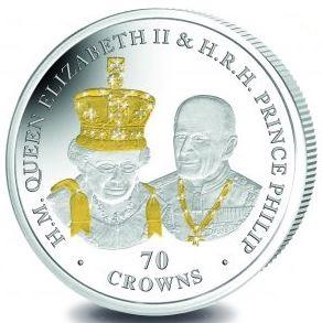 QE II 70th Anniversary - Reverse