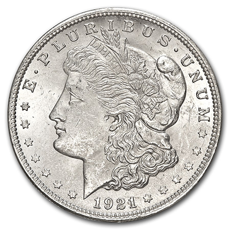 Morgan silver Dollar obverse