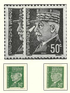 French 50 Centimes Stamp