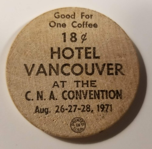 Vancouver Numismatic Society at Hotel Vancouver 1971