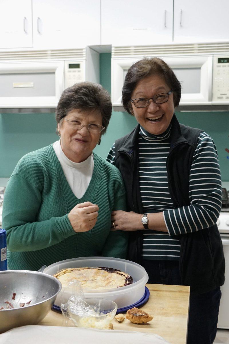 NUCC St Patty's Day dinner Myra and Sue