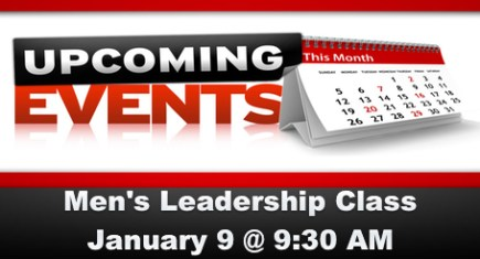 2nd Saturday Men's Leadership Class for January 9, 2016