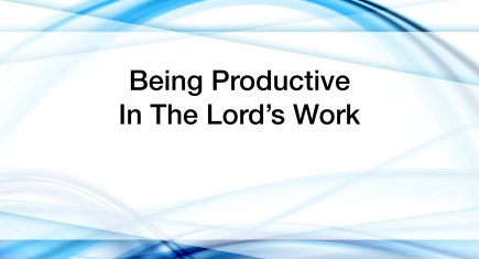 Being Productive in the Lord's Work