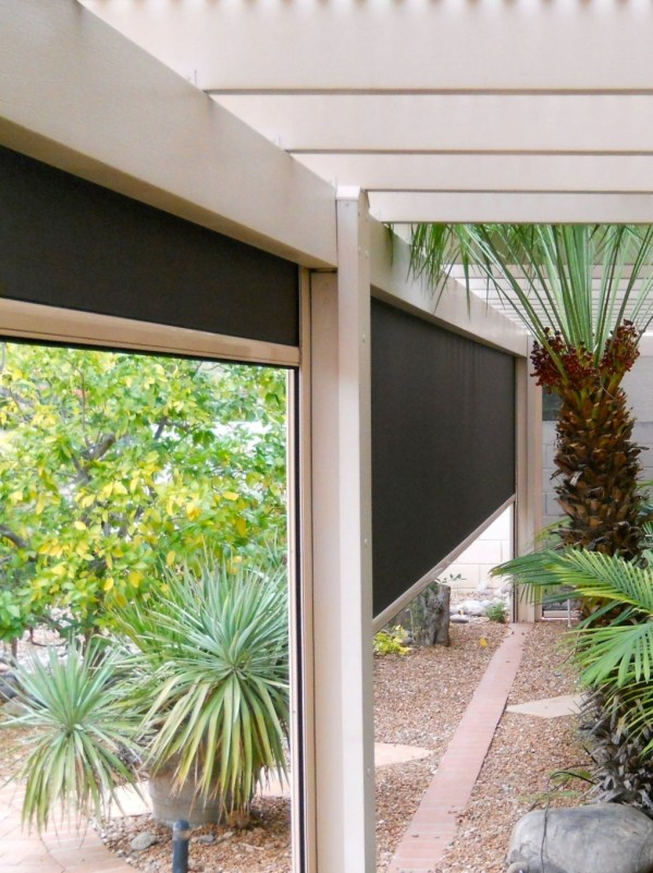 Fortress Outdoor Solar Shades High Winds North Screen