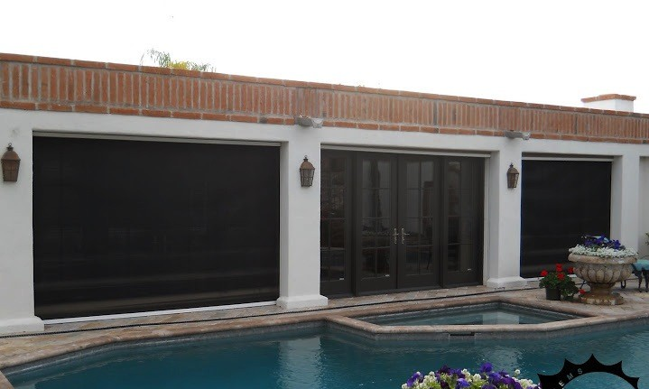 Fortress Blackout Outdoor Shades for Heavy Winds  North