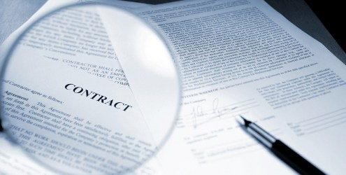 close up of legal contract