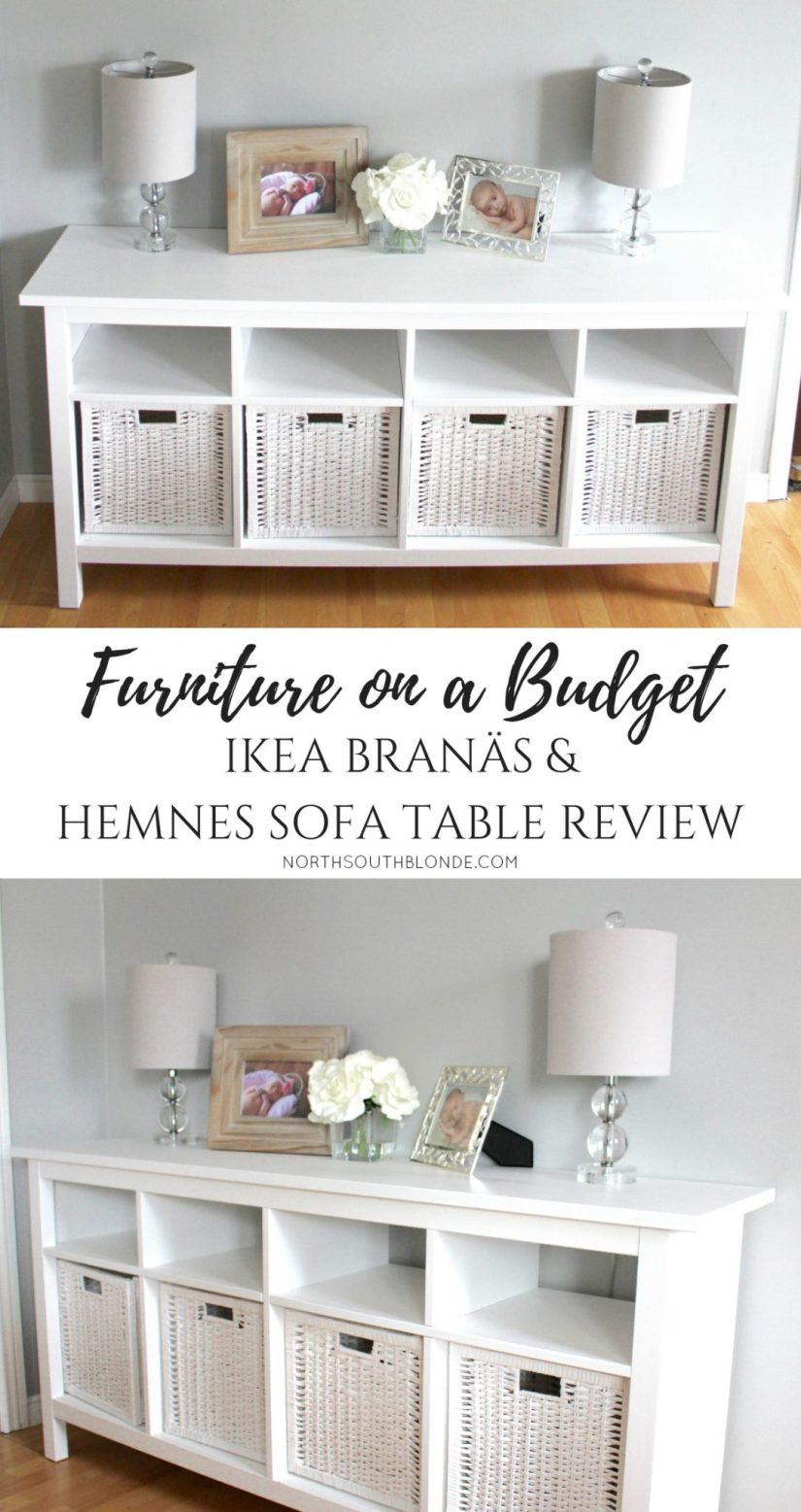 IKEA BRANÄS AND HEMNES SOFA TABLE