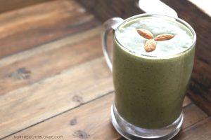 Healthy green avocado smoothie