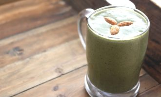 Healthy green avocado smoothie