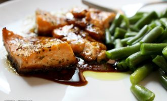 A tasty teriyaki salmon recipe that's sweet enough to get your kids eating healthy. The marinade is super easy to make and involves only a few ingredients! Easy Recipes | Dinner | Lunch | Marinade | Seafood | Fish | Gluten-Free | Quick & Easy | Clean Eating | Healthy | Good For You | Weight Loss | Postpartum | Toddler Food | Kid-Friendly |