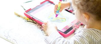 Toddler Activities – Paper-to-Digital Colouring (Painting LuLu Review)