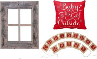 Affordable Rustic Christmas Decor from Amazon