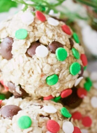 No Bake Holiday Energy Balls (Gluten-Free, Paleo, Vegan)