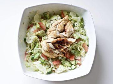 Blackened Chicken and Avocado Salad (Gluten-Free, Paleo, Whole 30)