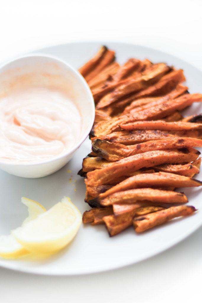 Crispy Oven-Baked Sweet Potato Fries (GF, Vegan, Paleo, Whole 30)