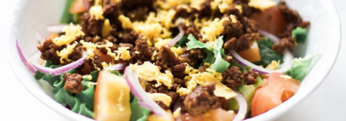 Gluten-Free Keto Low Carb Taco Bowls (with Homemade Taco Seasoning)