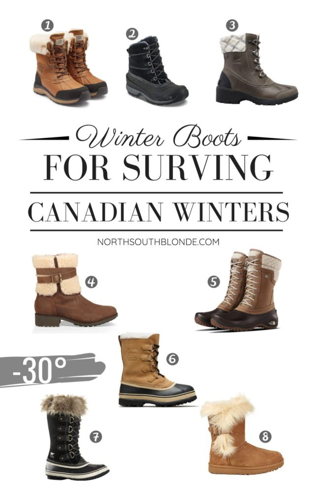 Here is a round up of stylish, yet functional winter boots for women that will hold up all winter long, in severe temperatures. Winter Boots | Women's Fashion | Canada | Canadian Winter | Below Zero | Winter Gear | Style | Warm Boots | Lifestyle | Canadian Blogger | Waterproof Boots | Ugg | Sorel | The North Face | Uggs | Gifts for Her | Christmas | Gift Guide | Chic | Practical | Functional |