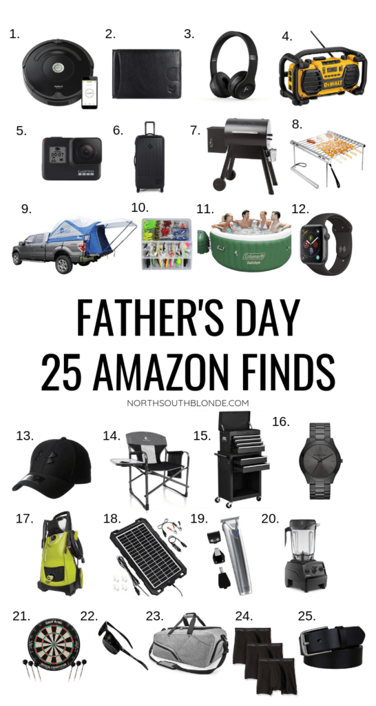 Show your love to the special dad in your life this Father's Day with a functional and modern gift from Amazon that he will go crazy for.Amazon Prime | Amazon Gift Guide | Amazon Finds | Father's Day Gift Ideas | Father's Day Gifts | Shopping for Dad | Affordable | Stylish | Outdoorsman | Gifts for Men | Camping | BBQ | Grilling | Gifts for Him | Gifts for Males | Modern Dads | Outdoorsman | Outdoorsmen