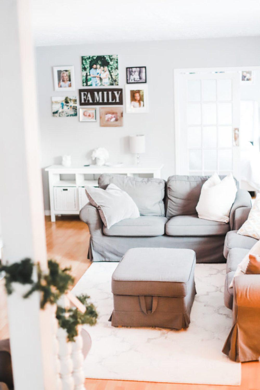 Affordable Christmas Decor – Living Room Home Tour