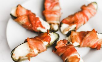 Keto bacon wrapped, cream cheese stuffed jalapeños are quick and easy to make, baked in the oven to perfection! A gluten-free, low carb snack or appetizer. Mexican Food | Keto Jalapenos | Stuffed Jalapenos | Keto Jalapeno Poppers | Bacon Wrapped Jalapenos | Weight Loss | Ketogenic | Ketos Snacks | Keto Recipes | Baked Jalapenos | Easy Keto |