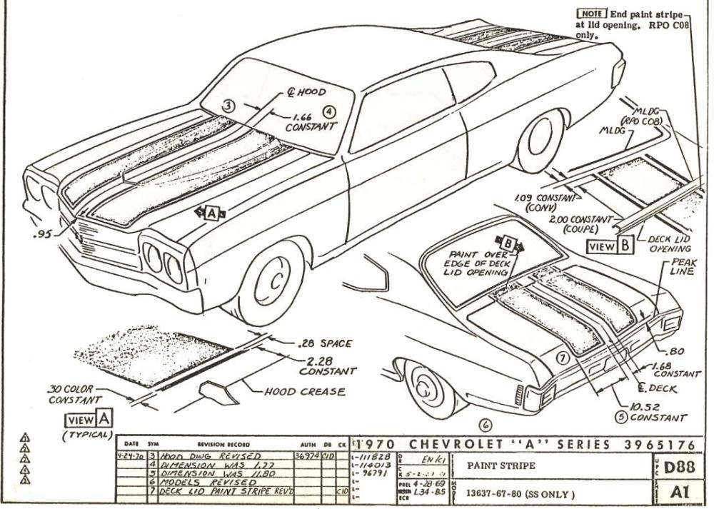medium resolution of 70 d88 a1 rev2 70 chevelle stripe dimensioning blueprints chevelle non stock 68 chevelle fuse box