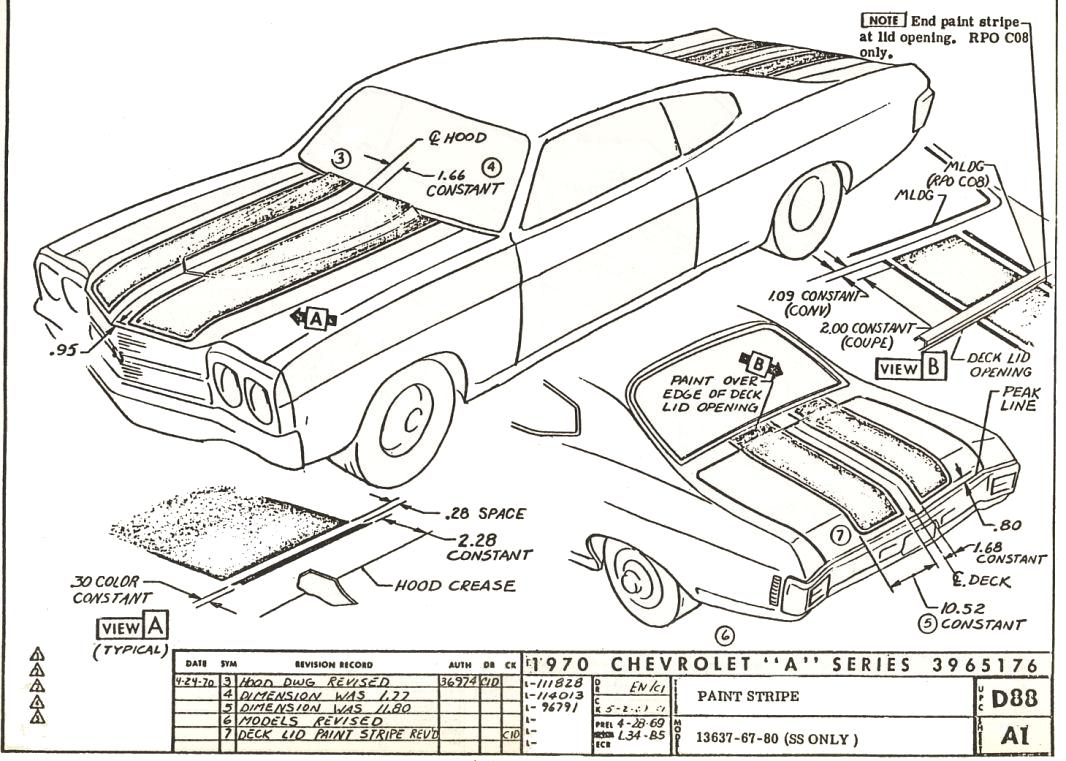 hight resolution of 70 d88 a1 rev2 70 chevelle stripe dimensioning blueprints chevelle non stock 68 chevelle fuse box